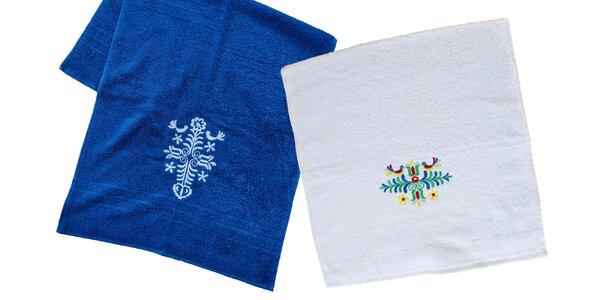 Bavlnené uteráky s folklórnou výšivkou