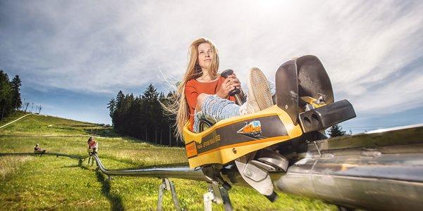 Jazda na najstrmšej bobovej dráhe na Slovensku vo FUN PARK Žiarce