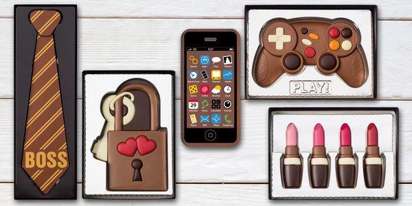 Úžasné darčeky z čokolády: telefón, foťák, kreditka alebo kravata
