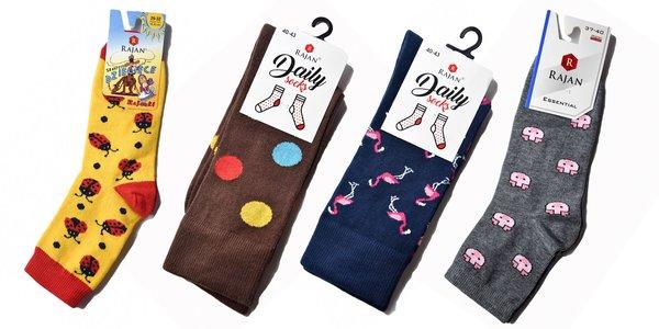 Dámske, pánske a detské ponožky Daily socks s veselými motívmi