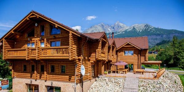 Krásne ubytovanie v čarovnom drevenom zrube vystavanom v kanadskom štýle s wellness