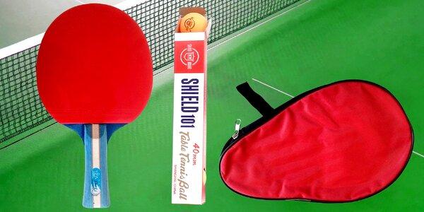 Poď hrať ping pong! Raketa, púzdro a loptičky