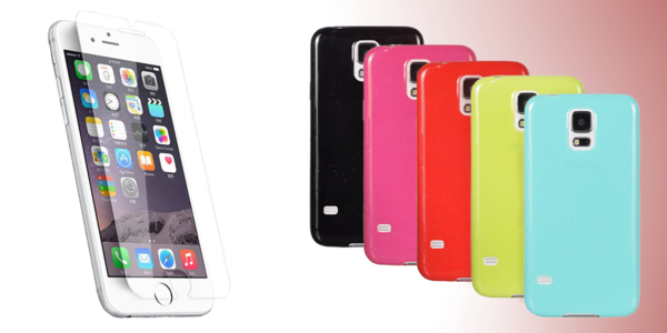 Farebný komplet: tvrdené sklo + farebný obal na váš telefón