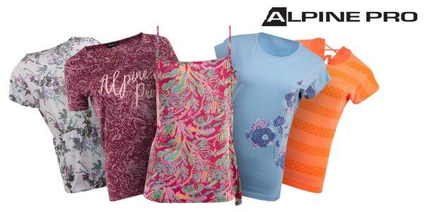 Dámske tričká Alpine Pro s nápismi aj vzorom