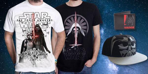 Peňaženka, šiltovka i tričko s motívom Star Wars