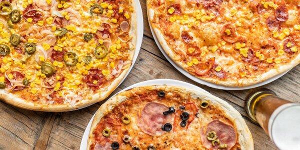 Pizza podľa vlastného výberu a tankové pivo Krušovice