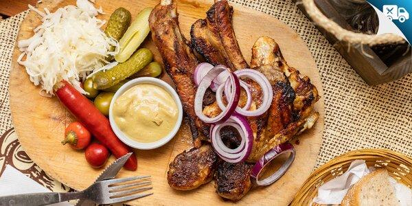 Trojitá mäsová nálož z grilu - aj na donášku!