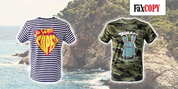Originálne vzorované tričko s vlastným motívom od FaxCOPY