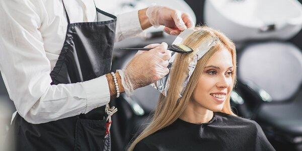 Kúra na vlasy Gold and Keratín, farbenie strih alebo Split-ender