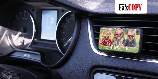 Originálne vône do auta aj s UV potlačou