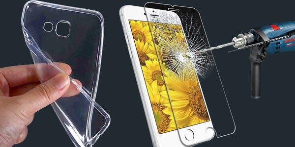 Tvrdené sklo + silikónové puzdro pre telefóny Asus, Huawei, HTC, iPhone, Lenovo či Meizu