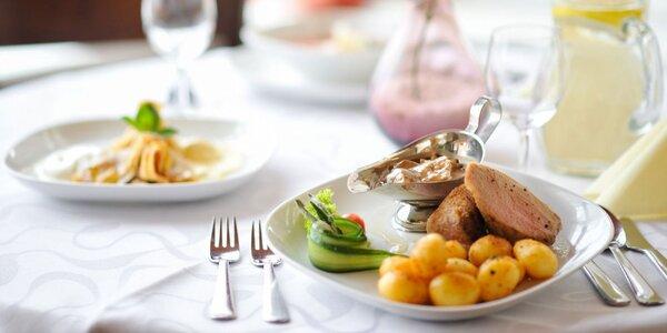 3-chodové menu na výber v hoteli Barónka****