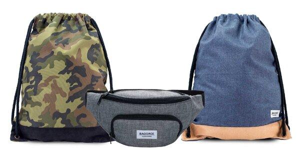 Pánske vaky na chrbát alebo ľadvinky Baggage