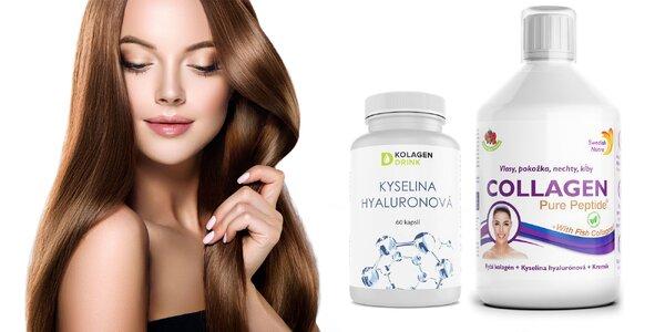 Výživové doplnky s kolagénom a kyselinou hyalurónovou