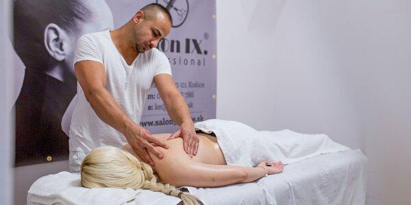 Masáž chrbta a šije či celotelová masáž v centre mesta