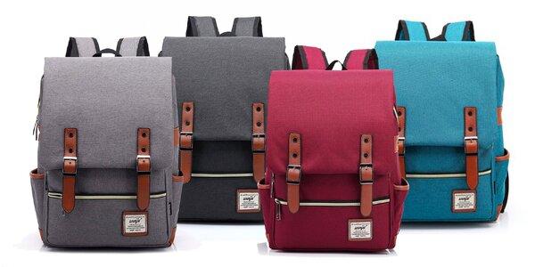 Trendy retro batoh v šiestich farbách