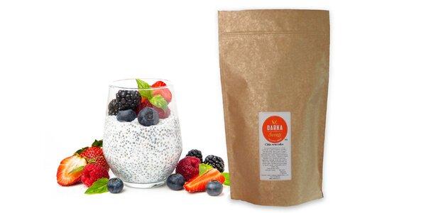 Chia semiačka v 0,5 alebo 1 kg balení