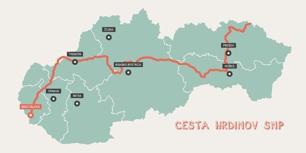 Cesta hrdinov SNP je snom mnohých nadšencov, ktorí túžia aspoň raz prejsť peši cez celé Slovensko. Zistite, kadiaľ vedie trasa