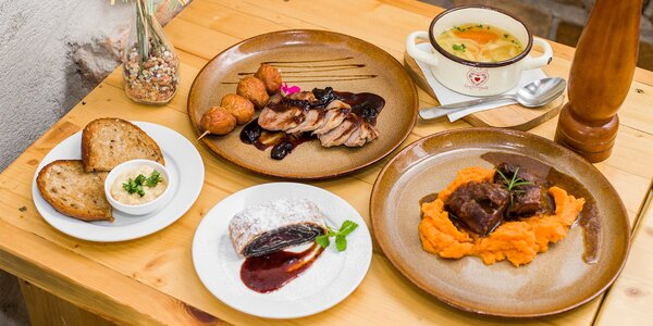 5-chodové degustačné menu pre 2 osoby
