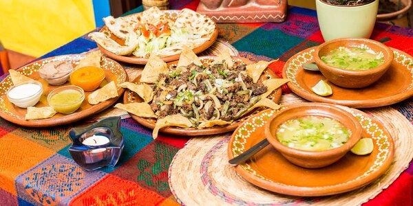 Degustačné mexické menu pre 2 osoby