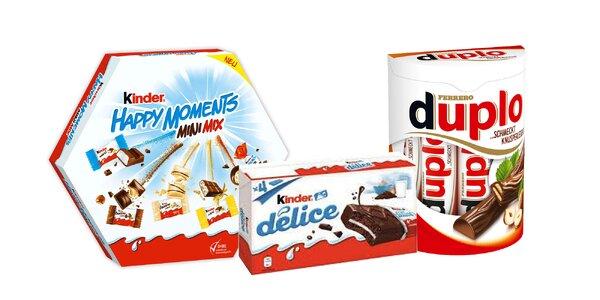 Lahodná Kinder čokoláda: Happy Moments a Ferrero