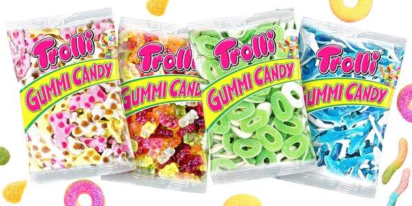 Až 1 kg chutných želatínových cukríkov Trolli
