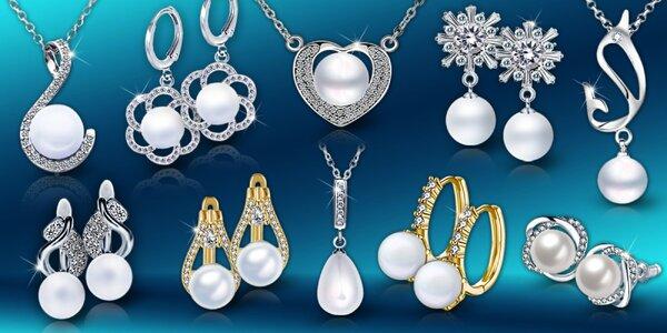 Elegantné perlové šperky - náušnice, náhrdelníky a sety