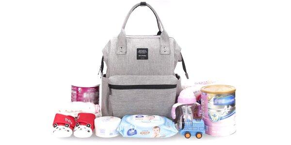Praktický batoh pre mamičky s množstvom vreciek
