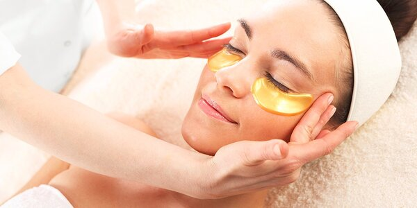 Kolagénová maska na oči proti vráskam s 24-karátovým zlatom a hydratačná kolagénová maska na pery
