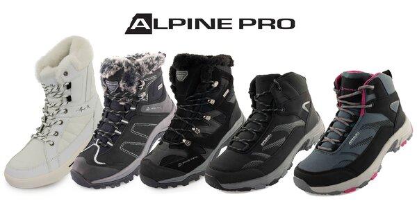 Zimná i outdoorová obuv Alpine Pro pre každého