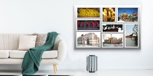 Fotoobraz na plátne z koláže vašich fotografií