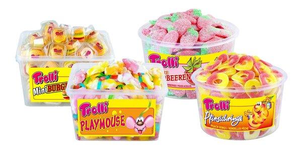 Boxy gumových cukríkov značky Trolli: 7 druhov