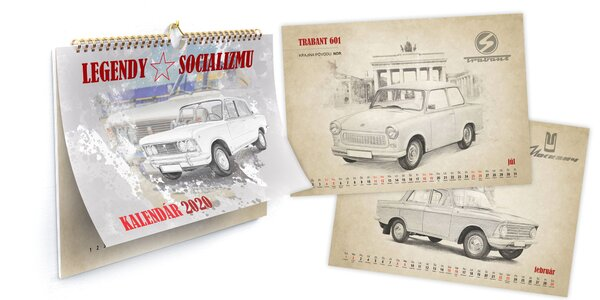 Kalendár legendárnych vozidiel socializmu