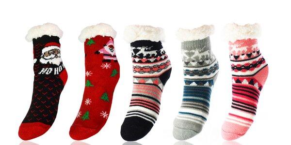 Detské teplé ponožky: jednofarebné aj s vzormi