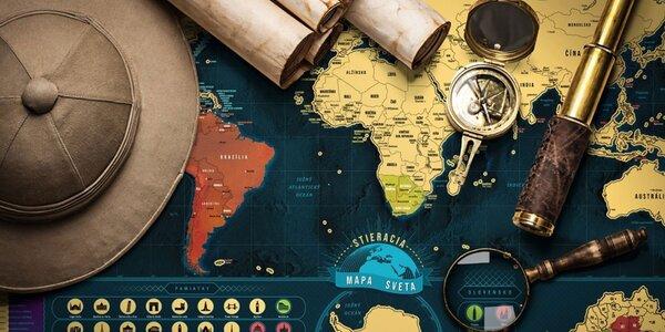 Stieracia mapa sveta Deluxe XL