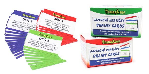 Netradičné jazykové kartičky BrainyLand