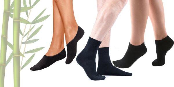 Balenie bambusových ponožiek pre dámy aj pánov