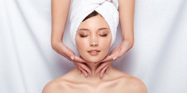 Ošetrenia pleti a relaxačné masáže tváre i hlavy
