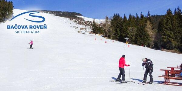 4-hodinový či celodenný skipas do lyžiarskeho strediska Bačova roveň