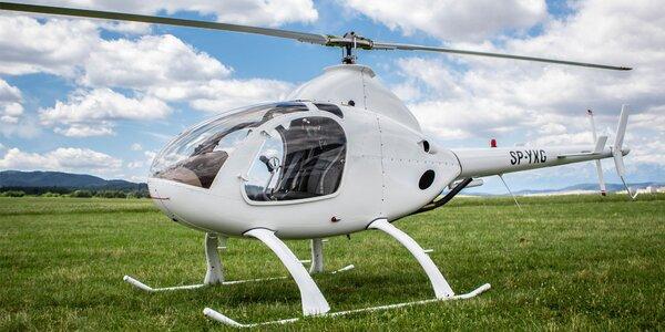 Vyhliadkový let americkým vrtuľníkom Robinson R22