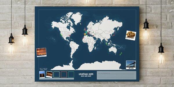Kreatívna cestovateľská mapa