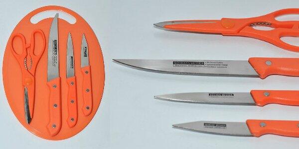 Farebná sada kuchynských nožov a nožníc z nerezovej ocele