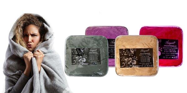 Príjemne hrejivé farebné plachty z mikroflanelu