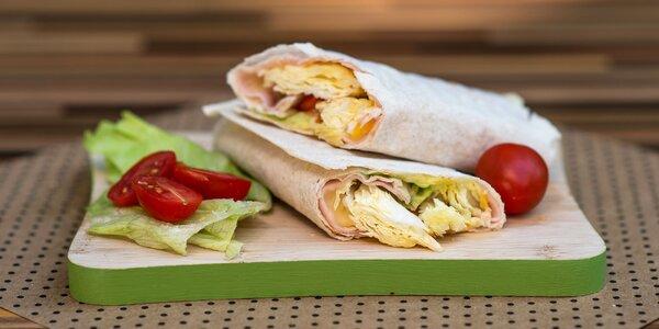 Wrap LAVAŠ z arménskeho chleba s kávou alebo džúsom
