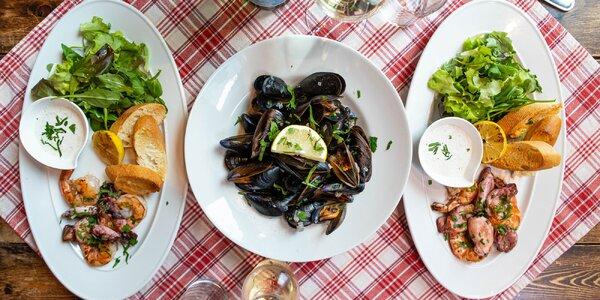 Mediteránske menu s vínom pre dve osoby
