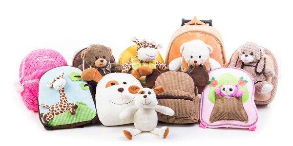 Rozkošné plyšové batohy pre malých cestovateľov