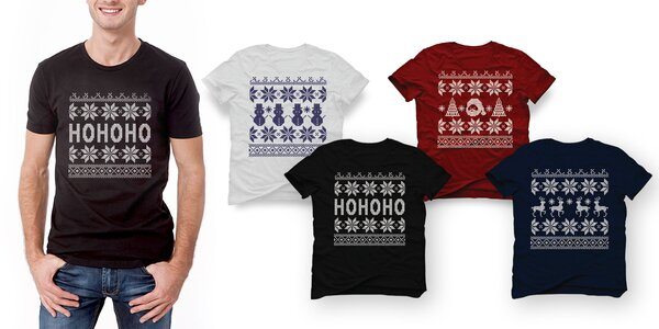 Pánske tričká s vianočnými a zimnými vzormi