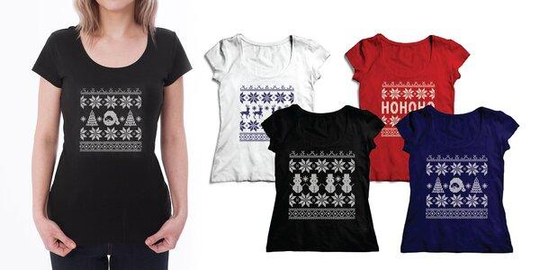 Dámske tričká s vianočnými a zimnými vzormi
