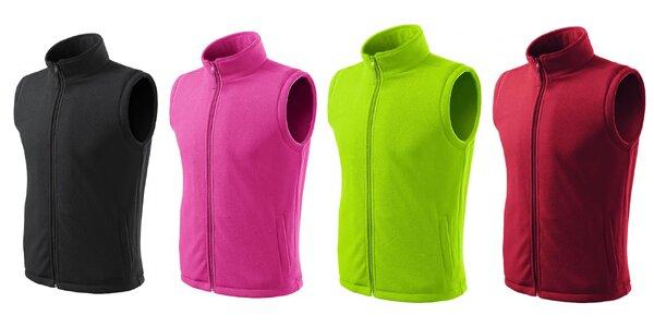 Klasická fleecová vesta: rôzne farby