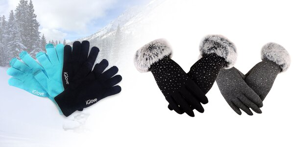 Zimné rukavice na prácu s dotykovým displejom